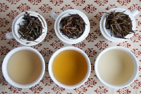Цвет заварки разных сортов кенийского чая