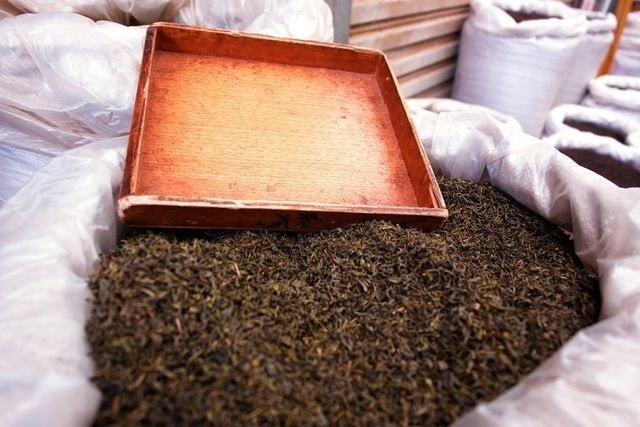 Чай в мешках готовый к отправке на фабрику