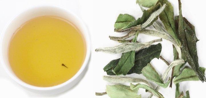 Цвет правильной заварки чая Бай Му Дань