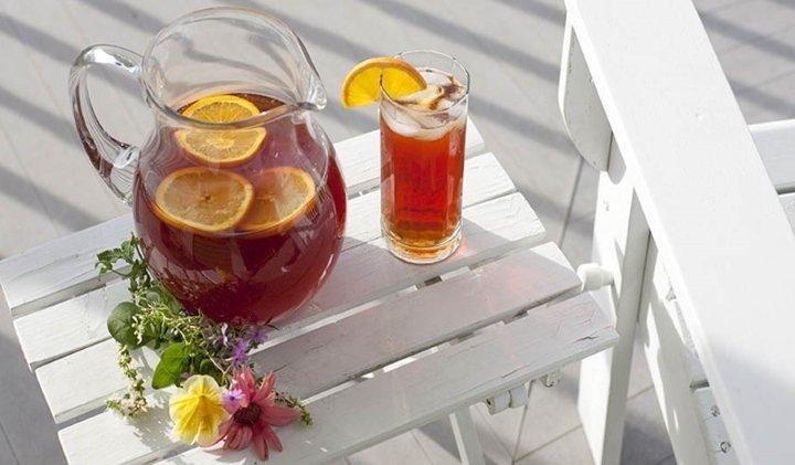 Холодный чай с апельсином - домашний рецепт